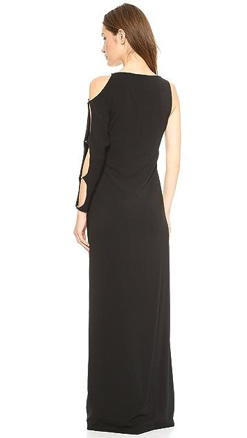 Halston Heritage One Sleeve Gown