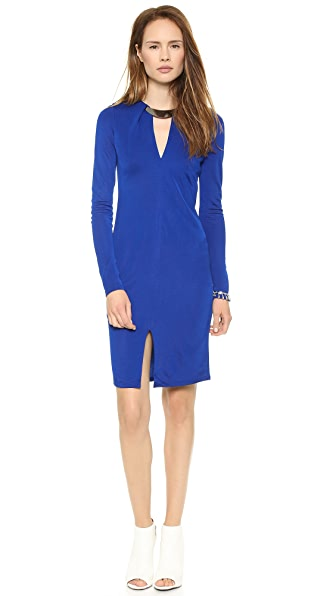 Halston Heritage Deep V Dress
