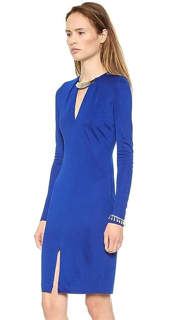 Halston Heritage Deep V Dress