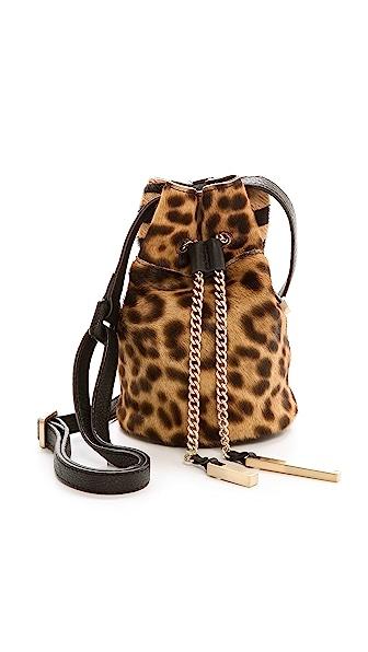 Halston Heritage Mini Haircalf Bucket Bag