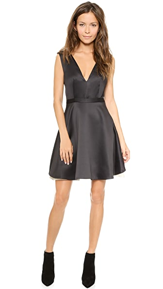 Halston Heritage Colorblock Tiered Dress
