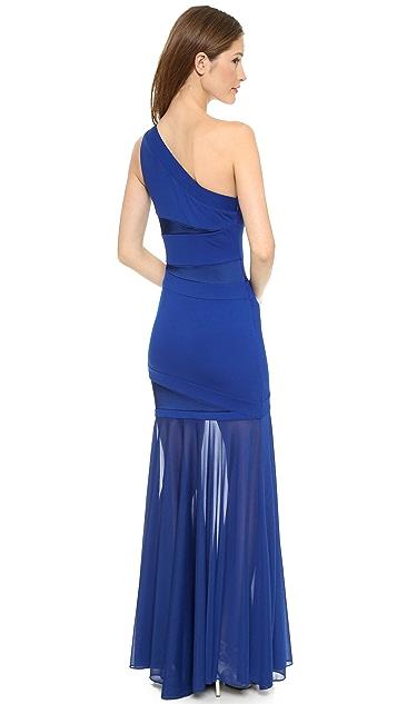 Halston Heritage One Shoulder Gown