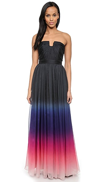 Halston Heritage Strapless Ombre Gown  SHOPBOP