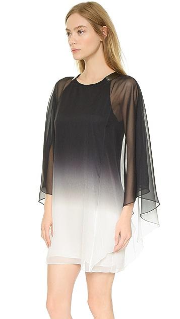 Halston Heritage Flowy Sleeve Cutout Dress