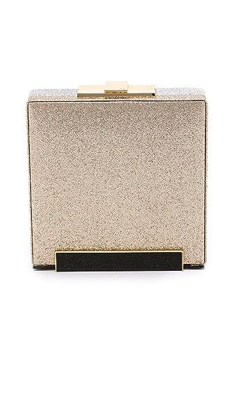 Halston Heritage Large Box Clutch - Gold Multi