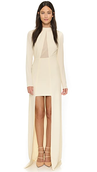 Halston Heritage High / Low Mock Neck Gown