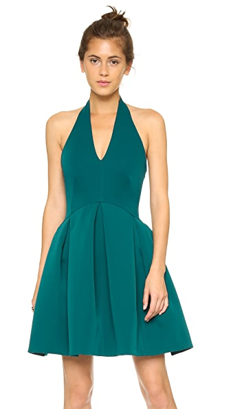 Halston Heritage Halter Dress with Full Skirt