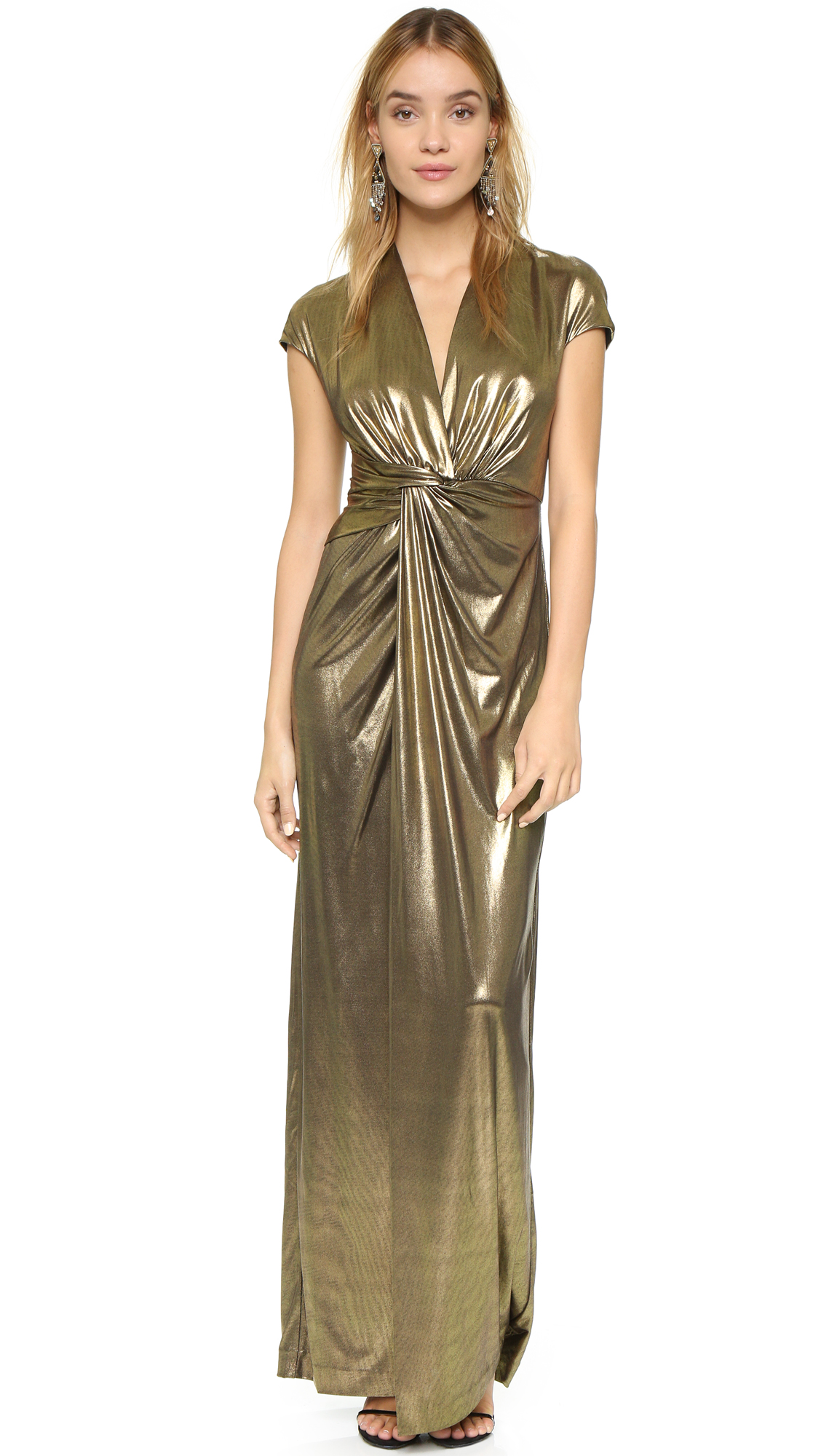 1e94c5f67ef Halston Heritage Gown with Front Twist | SHOPBOP