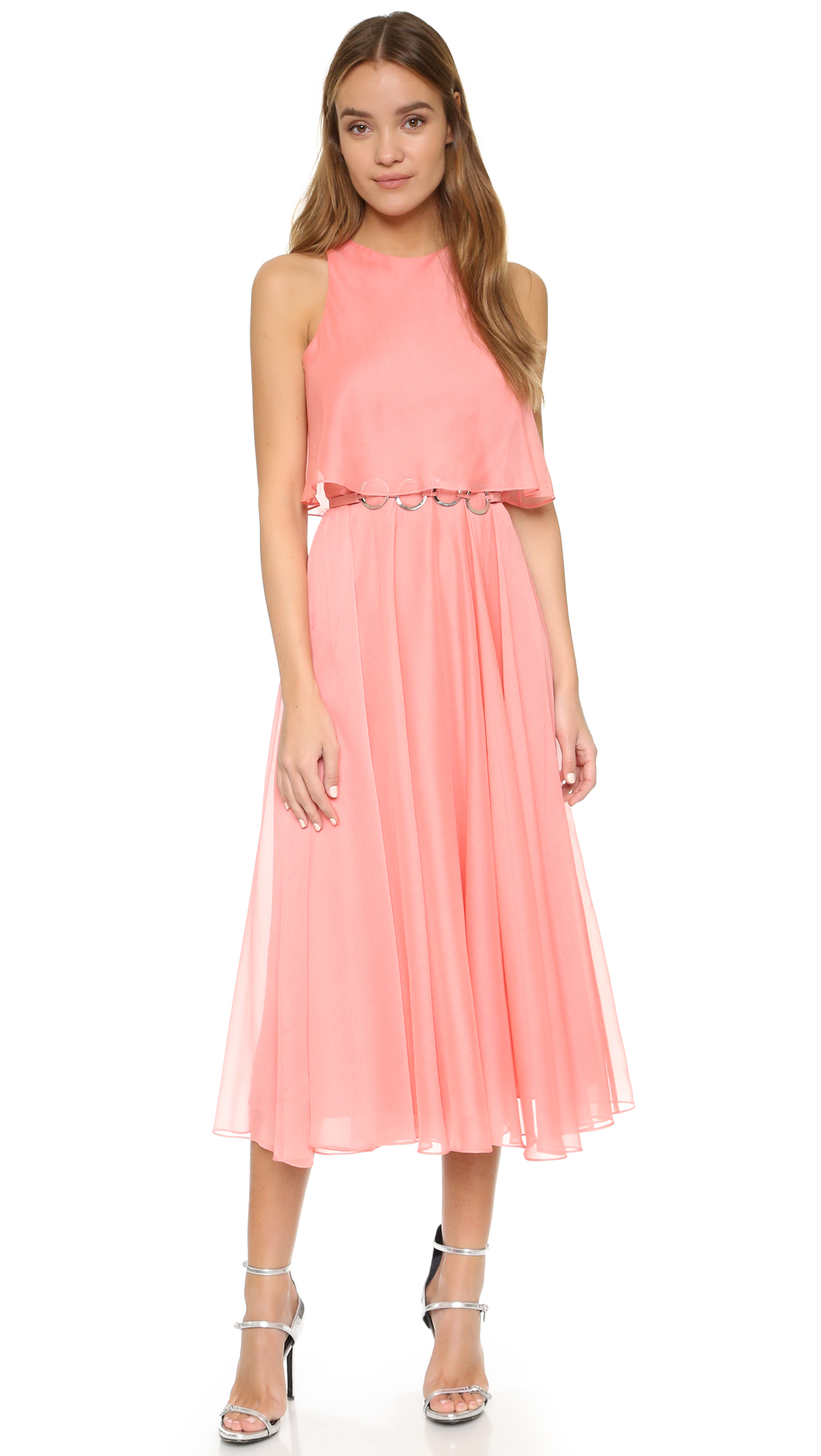Halston Heritage Pleated Maxi Dress  SHOPBOP