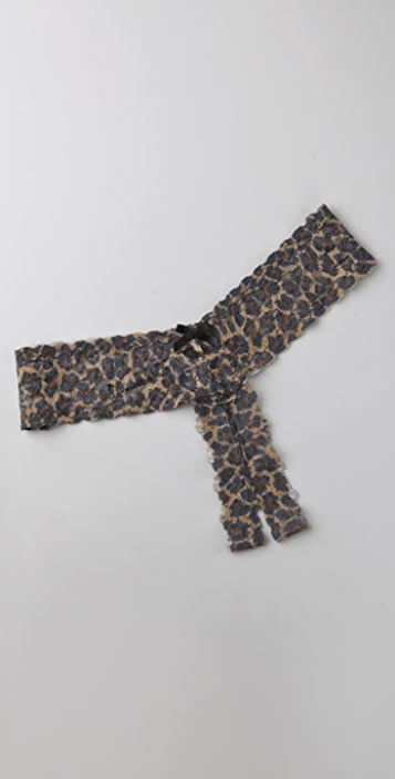 Hanky Panky After Midnight Leopard Open Thong