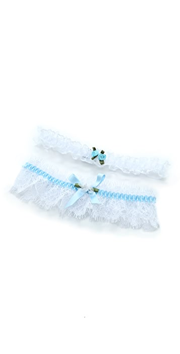 Hanky Panky Signature Lace Keepsake Garter & Tossing Garter Set