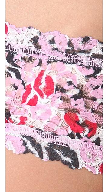 Hanky Panky Lips Print Boy Shorts