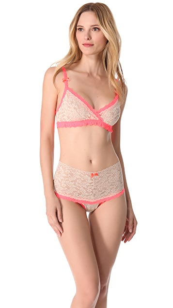Hanky Panky Retro Lace Crossover Bralette