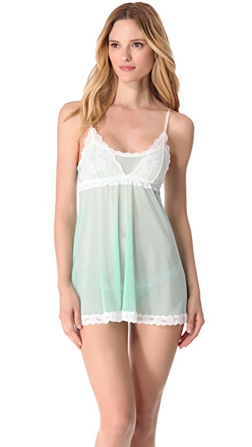 Hanky Panky Sheer Enchantment Babydoll with G-String