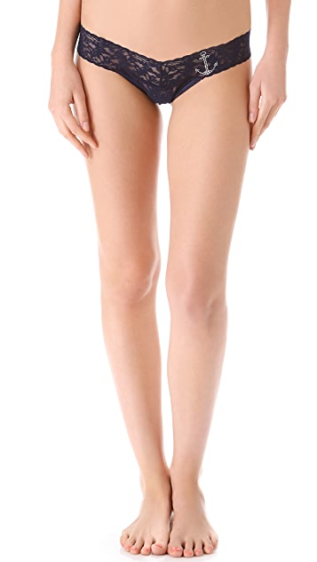 Hanky Panky Bloomers with Bling Low Rise Thong