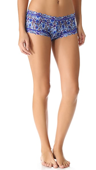 Hanky Panky Blue Ikat Boy Shorts
