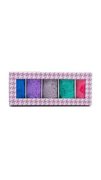 Hanky Panky 5 Original Rise Thongs in Pink Box