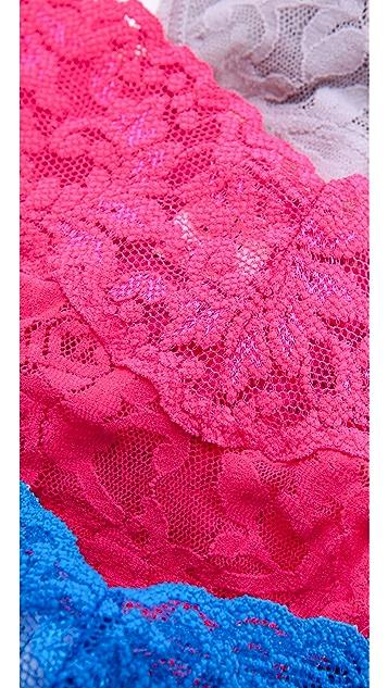 Hanky Panky 5 Low Rise Thongs in Blue Box