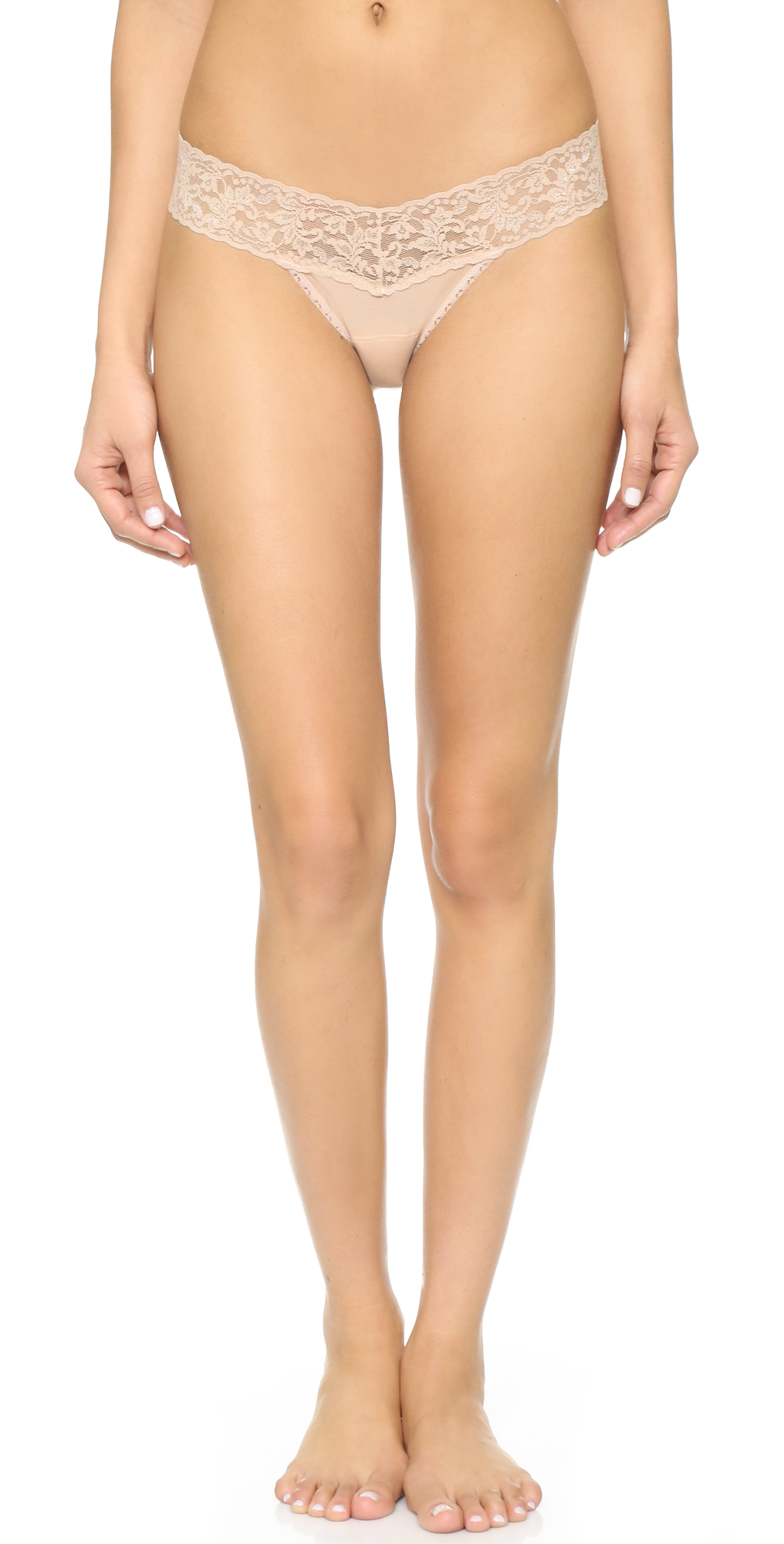 Cotton with a Conscience Petite Low Rise Thong Hanky Panky