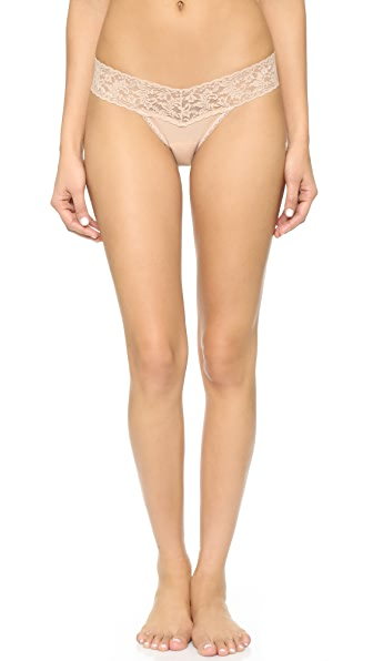 Hanky Panky Cotton with a Conscience Petite Low Rise Thong - Chai