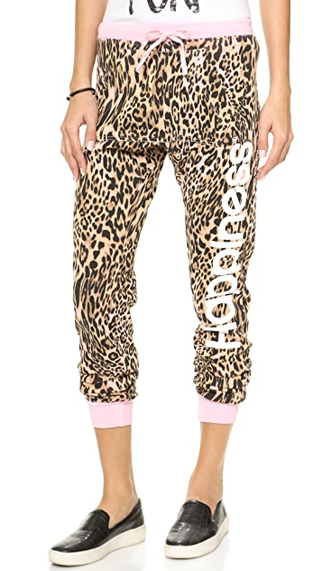 Happiness Pink Leopard Sweatpants