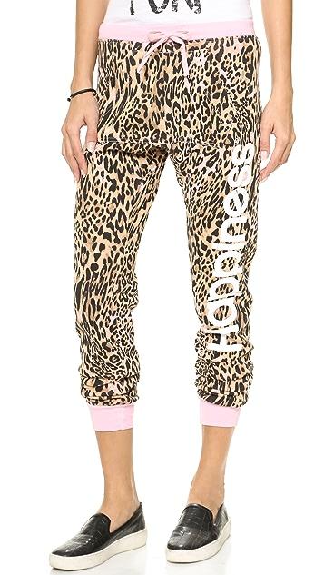 Happiness Pink Leopard Sweatpants