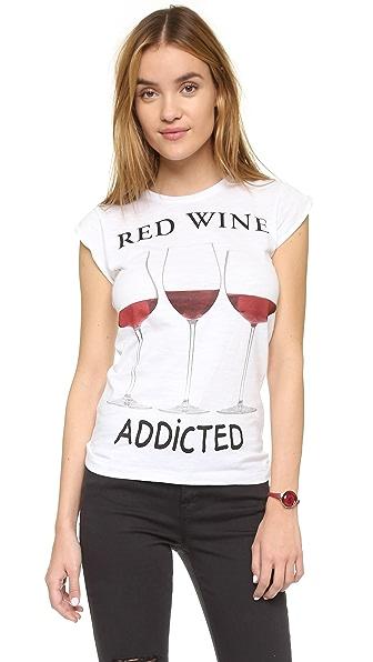Happiness Red Wine Addicted Tee