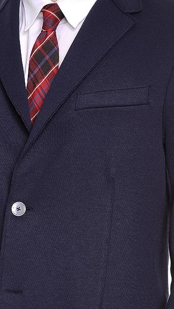 Harris Wharf London 2 Button Blazer with Elbow Patch