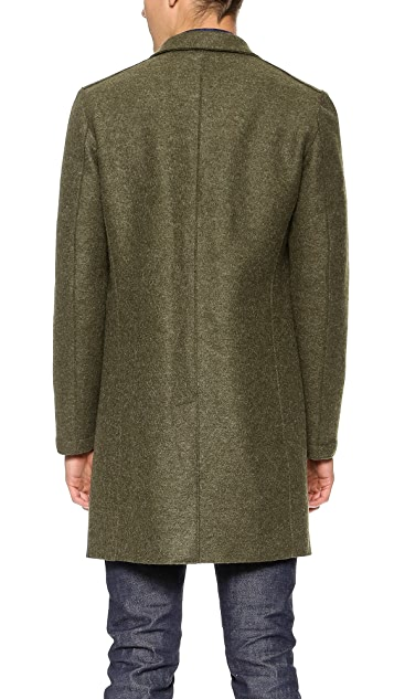Harris Wharf London Pressed Wool Long Coat