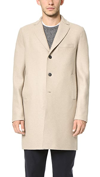 Harris Wharf London 3 Button Pressed Wool Boxy Coat