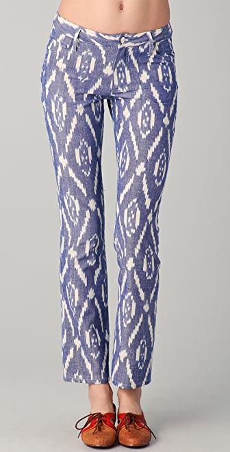 Harvey Faircloth Ikat Straight Leg Pants
