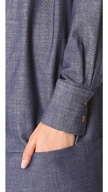 Harvey Faircloth Banded Shirtdress