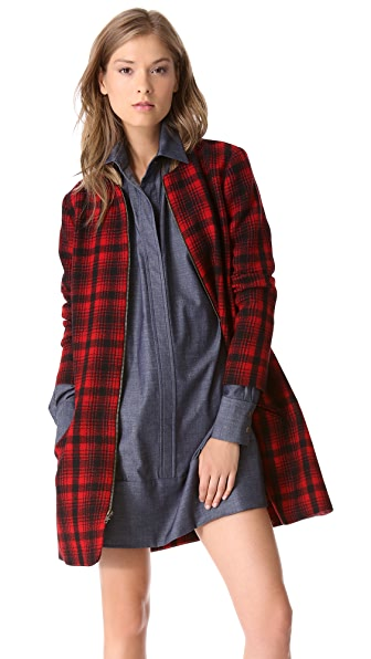 Harvey Faircloth A Line Plaid Jacket