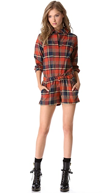 Harvey Faircloth Flannel Romper