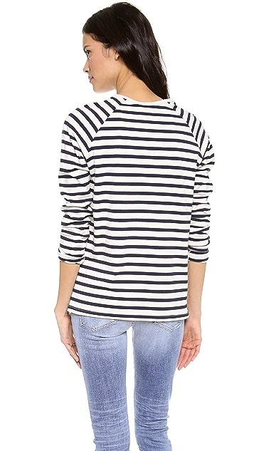 Harvey Faircloth Sailor Stripe Boyfriend Tee