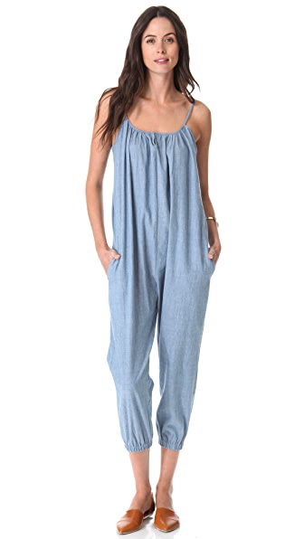 HATCH The Chambray Jumpsuit