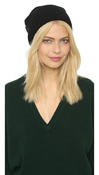 Hat Attack Cashmere Slouchy / Cuff Hat