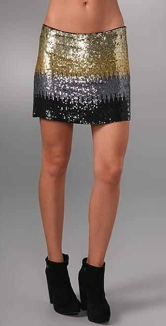 Haute Hippie Ombre Skirt