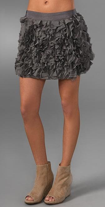 Haute Hippie Mink Skirt