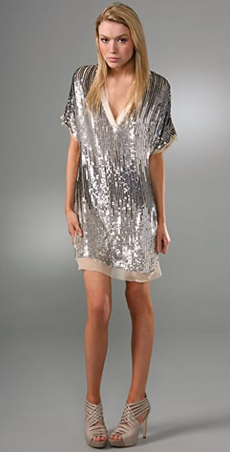 Haute Hippie Flapper V Neck Sequin Dress | 15% off first app ...