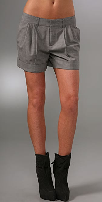 Haute Hippie Peter Pleater Shorts