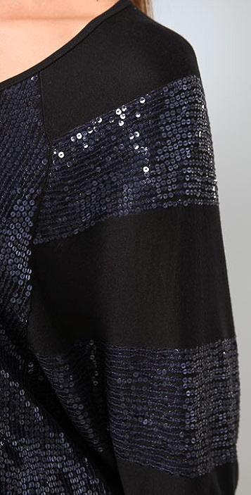 Haute Hippie Sequin Stripe Sleeve Dress
