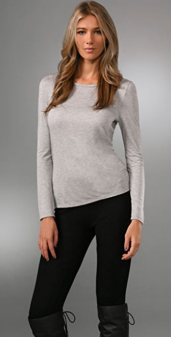 Haute Hippie Long Sleeve Crew Tee