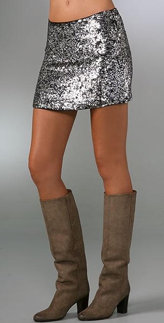 Haute Hippie Confetti Sequin Miniskirt