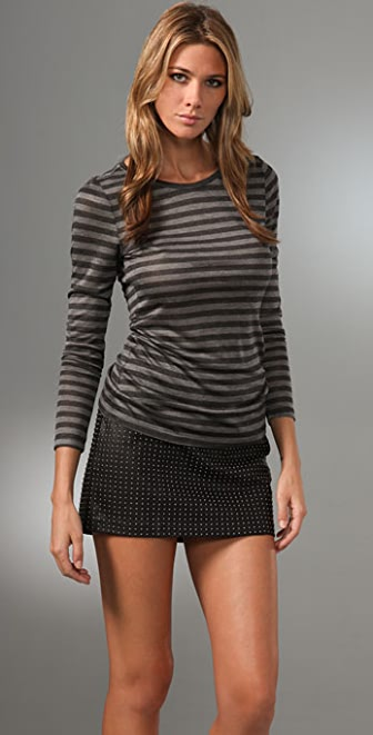 Haute Hippie Striped Long Sleeve Tee