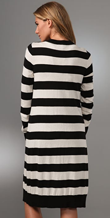 Haute Hippie Long Stripe Cardigan
