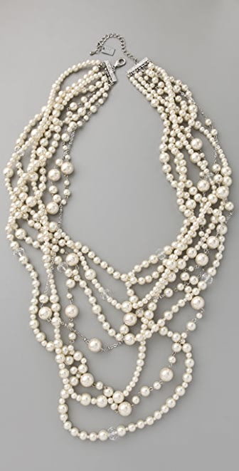 Haute Hippie Long Pearl Necklace