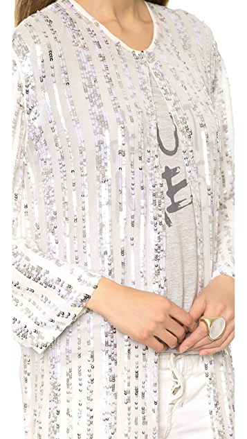 Haute Hippie Long Sequined Cloak