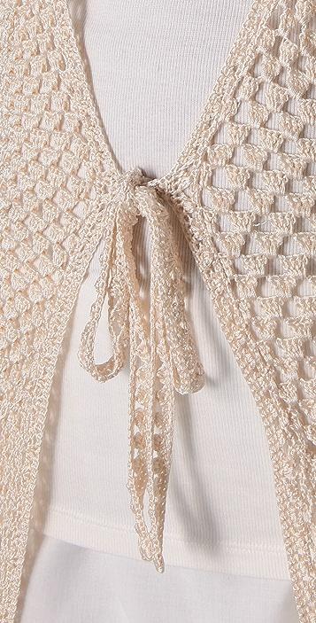 Haute Hippie Vintage Crochet Cardigan