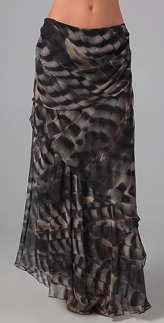 Haute Hippie Drape Chiffon Skirt